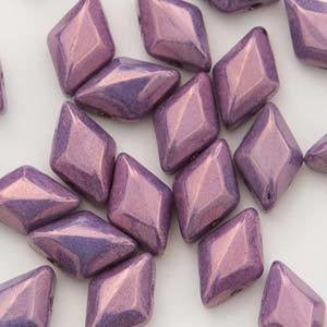 Chalk Vega Purple GemDuo's - Beading Amazing