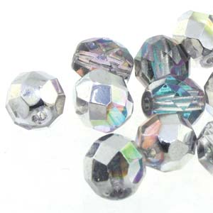 Crystal Silver 6mm Fire Polished - Beading Amazing