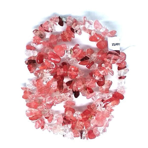 Gem Chips - Cherry Quartz - Beading Amazing