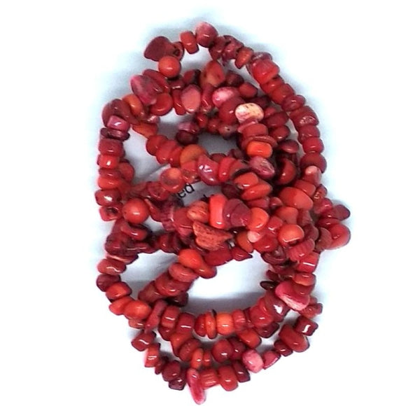 Gem Chips - Red Coral - Beading Amazing