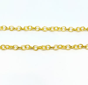 Gold Oval Link Chain - Beading Amazing
