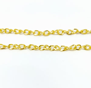Gold Twisted Oval Link Chain - Beading Amazing