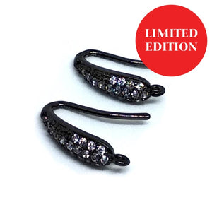 Luxury Earwire Black - Beading Amazing