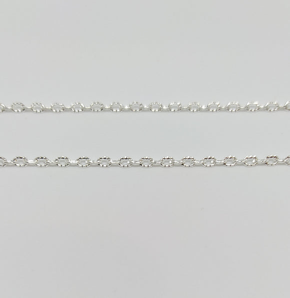 Shiny Silver Fine Knit Chain - Beading Amazing