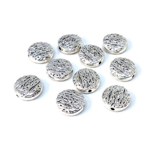 Silver Flat Round Metal Spacer Beads - Beading Amazing