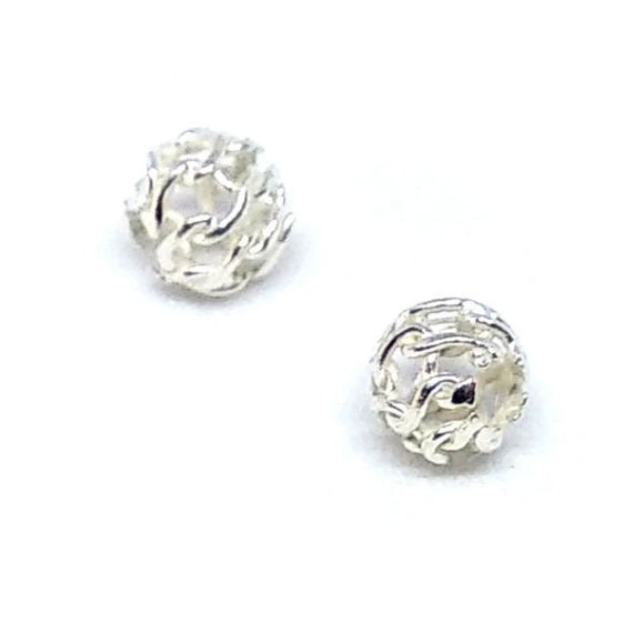 Sterling Silver 4mm Hollow Lace Spacers - Beading Amazing