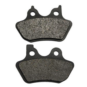 Organic motorcycle brake pads