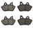 Volar Front & Rear Brake Pads for 2004-2005 Harley Dyna Low Rider FXDLI