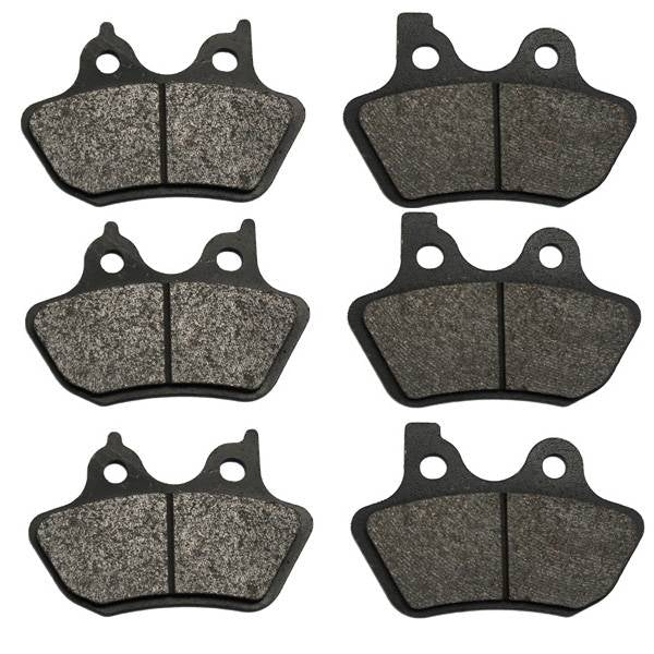 Volar Front & Rear Brake Pads for 2000-2007 Harley Electra Glide Ultra Classic
