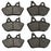 Volar Front & Rear Brake Pads for 2001-2003 Harley Dyna Super Glide T-Sport