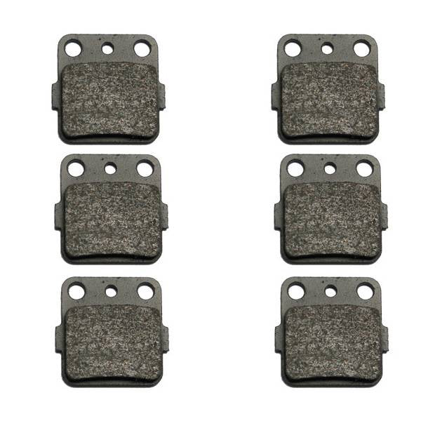 Volar Front & Rear Brake Pads for 1999-2008 Honda Sportrax 400 TRX400EX 2x4