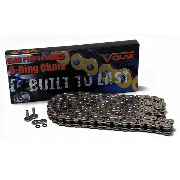 520 x 150 Links O-Ring Motorcycle Chain for Extended Swingarm - Nickel - D2Moto - 1