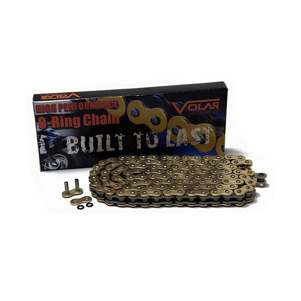 Volar O-Ring Chain - Gold for 2002-2005 Kawasaki KZ1000 KZ1000P Police