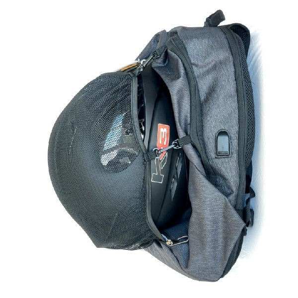 Motorcycle Helmet Backpack with USB charge port
