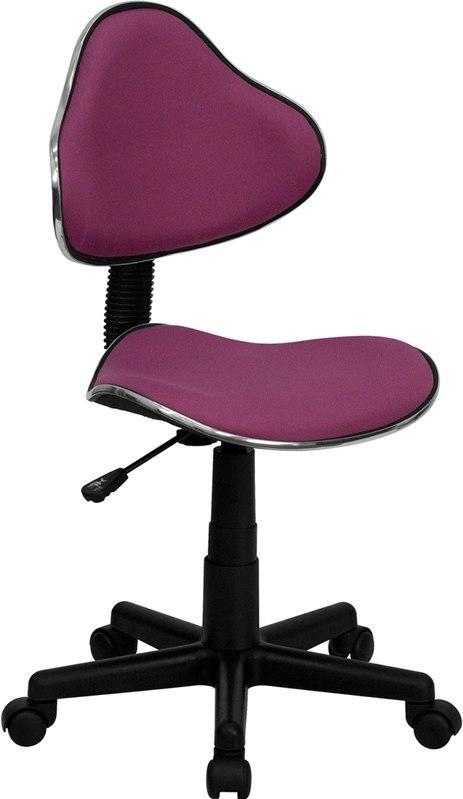 Flash Furniture BT-699-LAVENDER-GG Lavender Fabric Ergonomic Swivel Task Chair