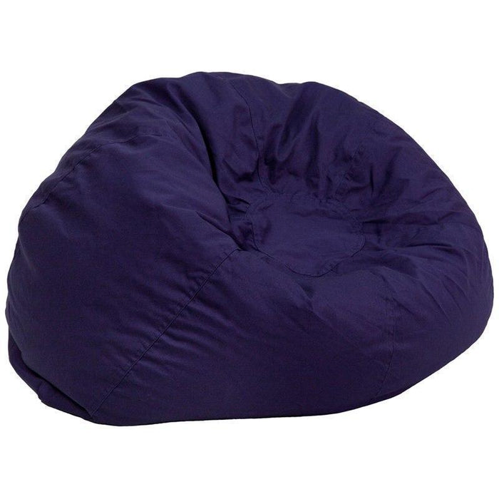 Oversized Solid Navy Blue Bean Bag Chair DG-BEAN-LARGE-SOLID-BL-GG by Flash Furniture