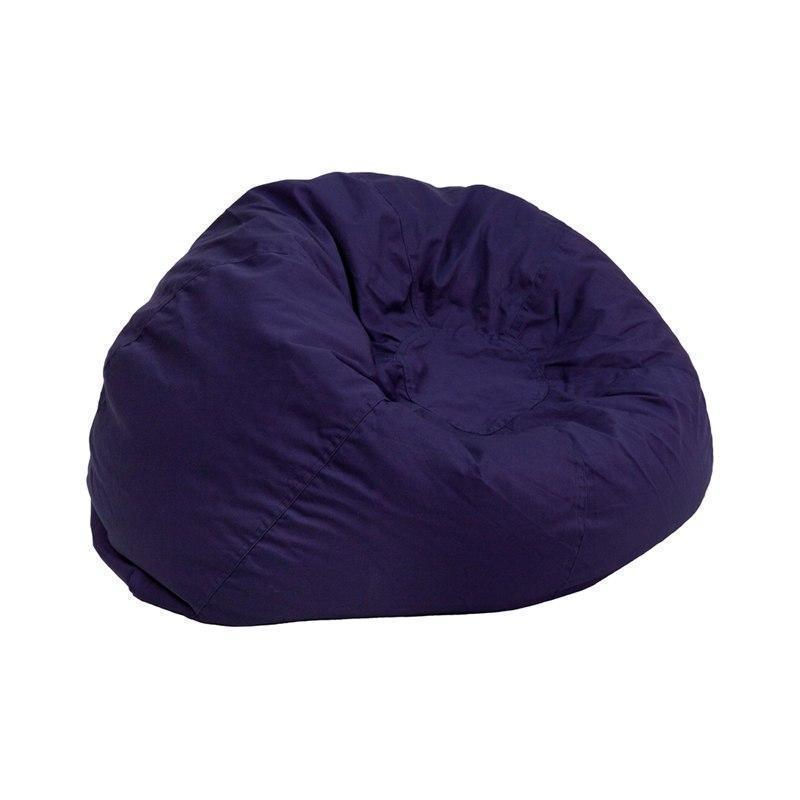 Small Solid Navy Blue Kids Bean Bag Chair DG-BEAN-SMALL-SOLID-BL-GG by Flash Furniture