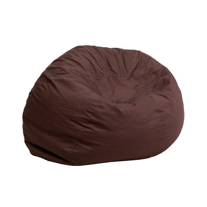 Small Solid Brown Kids Bean Bag Chair DG-BEAN-SMALL-SOLID-BRN-GG by Flash Furniture