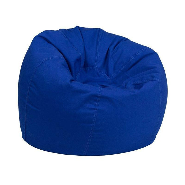 Small Solid Royal Blue Kids Bean Bag Chair DG-BEAN-SMALL-SOLID-ROYBL-GG by Flash Furniture