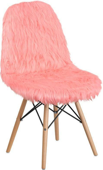 Shaggy Dog Hermosa Pink Accent Chair DL-12-GG by Flash Furniture
