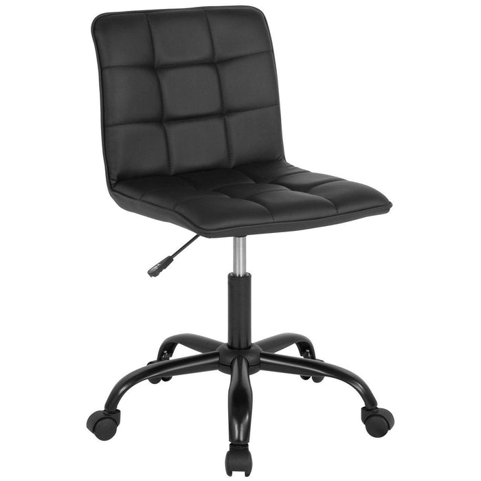Sorrento Home and Office Task Chair in Black Leather DS-512C-BLK-GG by Flash Furniture