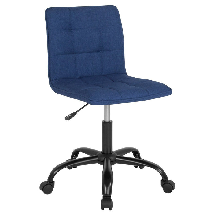 Sorrento Home and Office Task Chair in Blue Fabric DS-512C-BLU-F-GG by Flash Furniture