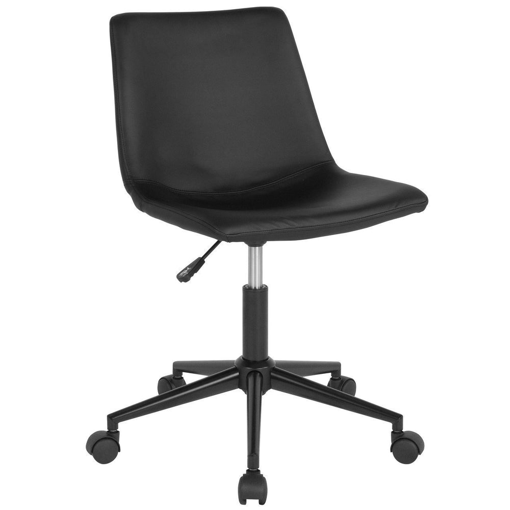 Siena Home and Office Task Chair in Black Leather DS-530A-BLK-GG by Flash Furniture