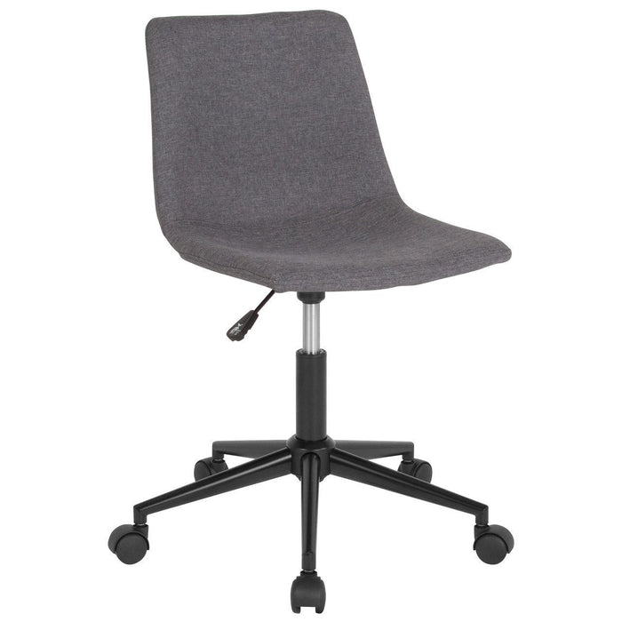 Siena Home and Office Task Chair in Dark Gray Fabric DS-530A-DGY-F-GG by Flash Furniture