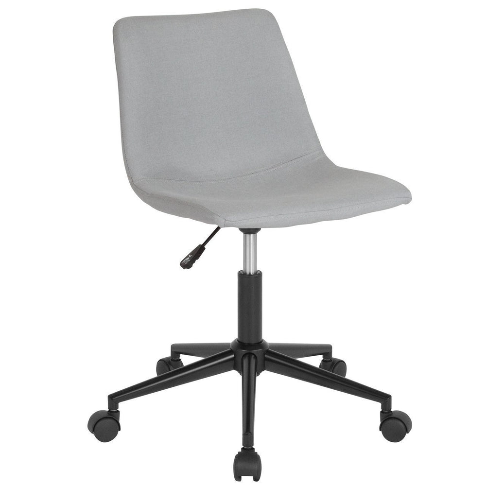Siena Home and Office Task Chair in Light Gray Fabric DS-530A-LTG-F-GG by Flash Furniture