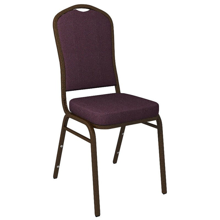 Flash Furniture Crown Back Banquet Chair in Culp Montgomery Grape Fabric - Gold Vein Frame
