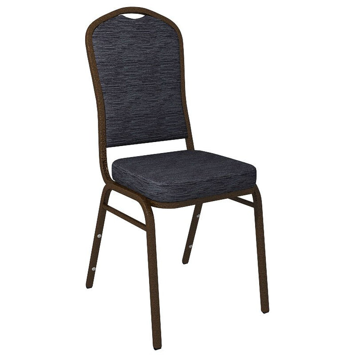 Flash Furniture Crown Back Banquet Chair in Culp Winslow Bluechip Fabric - Gold Vein Frame
