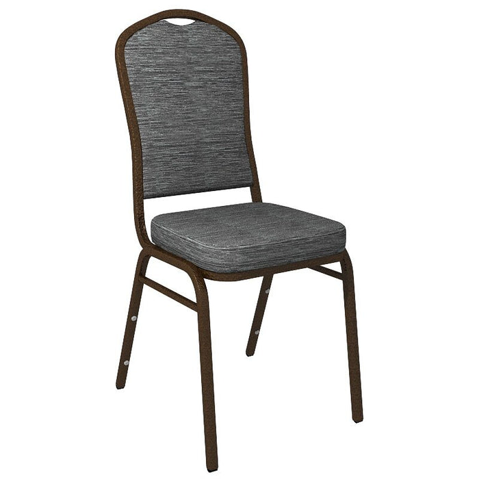 Flash Furniture Crown Back Banquet Chair in Culp Winslow Smoke Blue Fabric - Gold Vein Frame