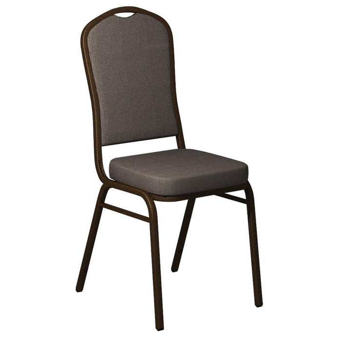 Flash Furniture Crown Back Banquet Chair in Shire Horizon Fabric - Gold Vein Frame