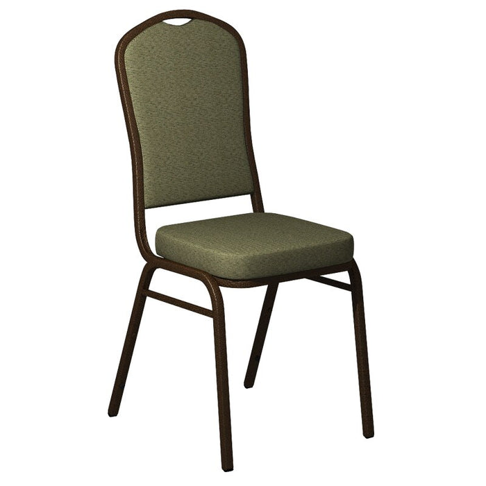 Flash Furniture Crown Back Banquet Chair in Shire Key Lime Fabric - Gold Vein Frame