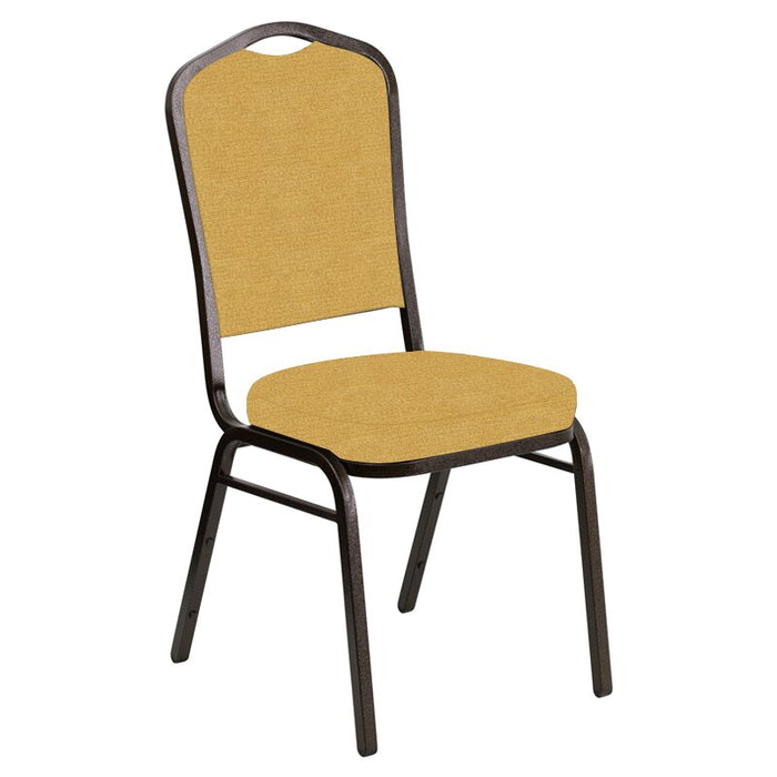 Flash Furniture Crown Back Banquet Chair in Phoenix Sand Fabric - Gold Vein Frame