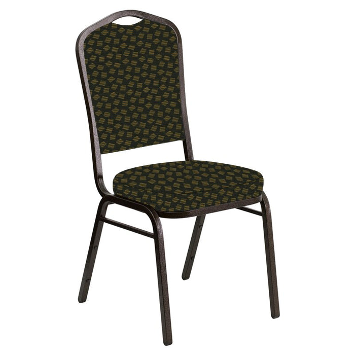 Flash Furniture Crown Back Banquet Chair in Scatter Celtic Fabric - Gold Vein Frame