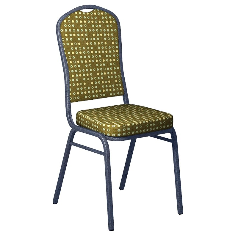 Flash Furniture Culp Fine Tune Herb Fabric Upholstered Crown Back Banquet Chair - Silver Vein Frame