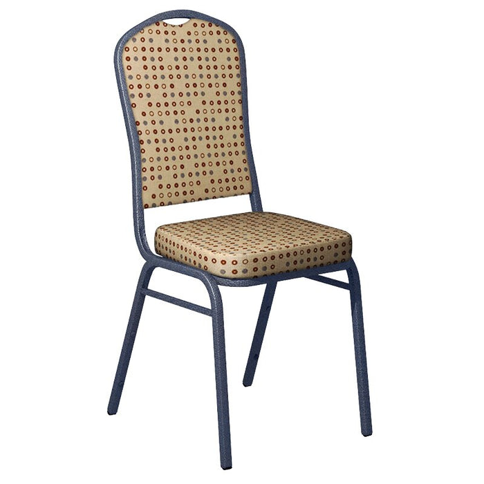 Flash Furniture Culp Fine Tune Wheat Fabric Upholstered Crown Back Banquet Chair - Silver Vein Frame