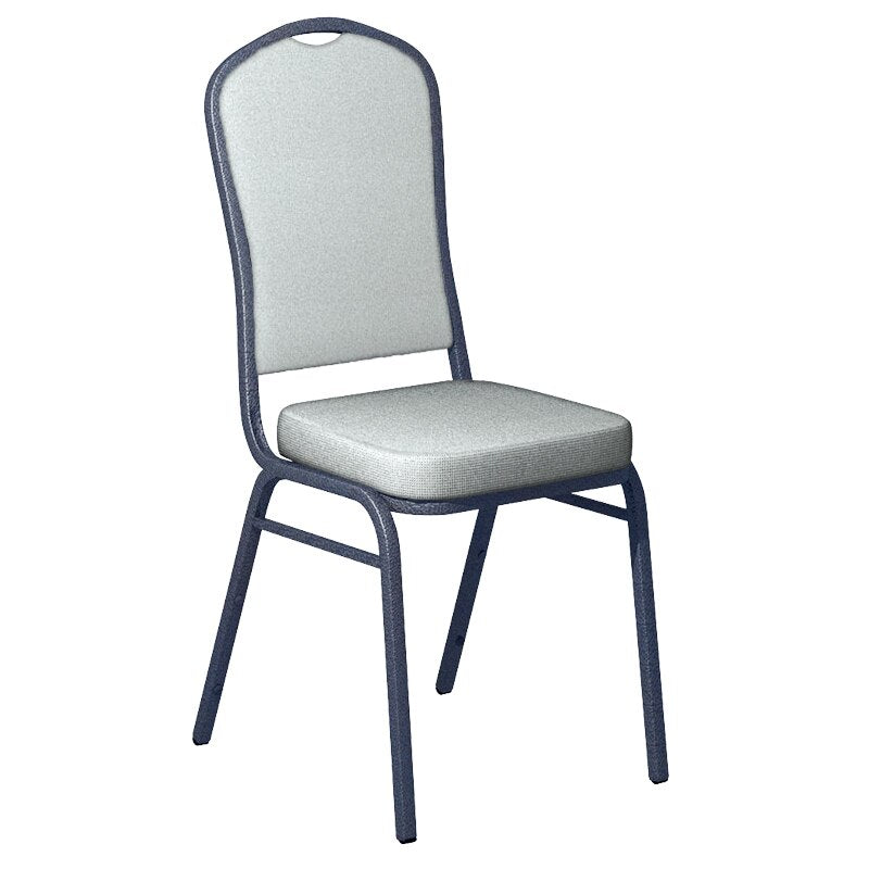 Flash Furniture Culp Montgomery Water Fabric Upholstered Crown Back Banquet Chair - Silver Vein Frame