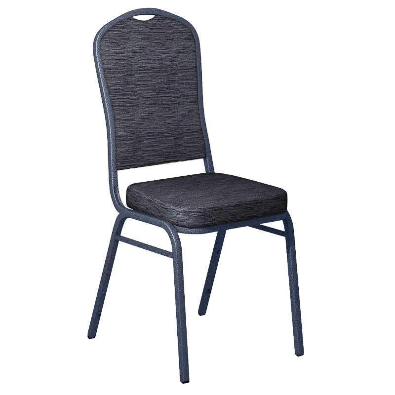 Flash Furniture Culp Winslow Bluechip Fabric Upholstered Crown Back Banquet Chair - Silver Vein Frame