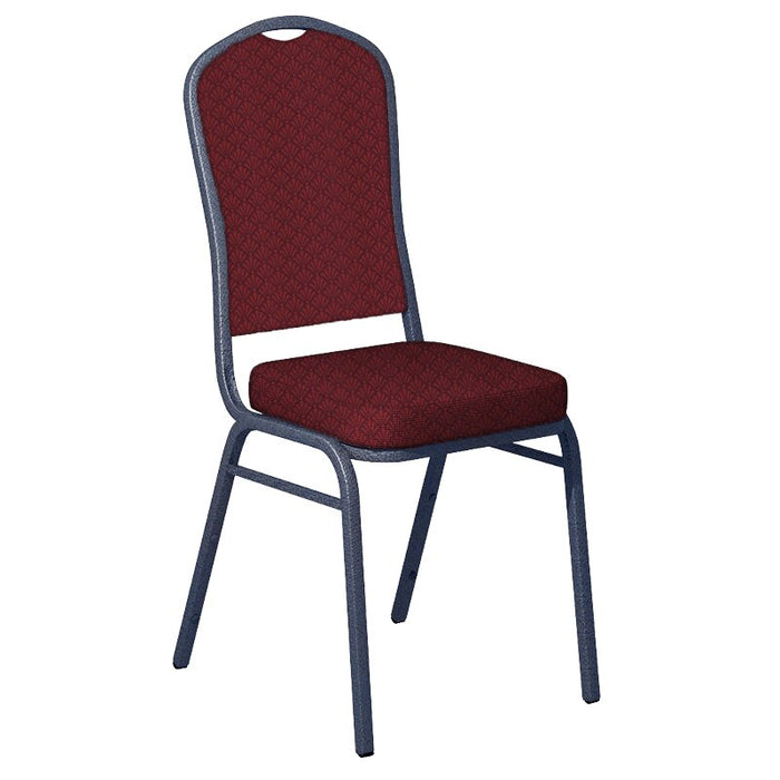 Flash Furniture Praise Currant Fabric Upholstered Crown Back Banquet Chair - Silver Vein Frame