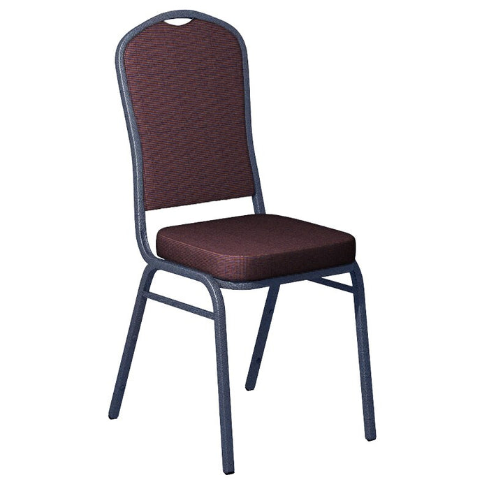 Flash Furniture Shire Aristocrat Fabric Upholstered Crown Back Banquet Chair - Silver Vein Frame