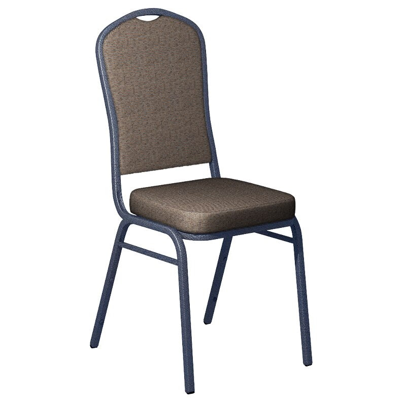 Flash Furniture Shire Woodstock Fabric Upholstered Crown Back Banquet Chair - Silver Vein Frame