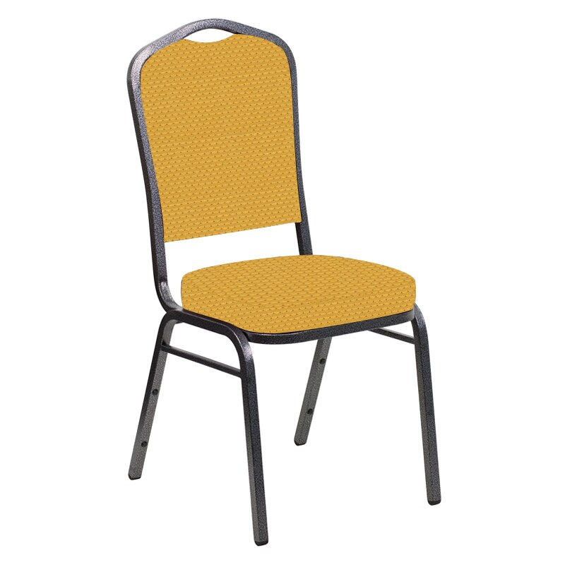Flash Furniture Crown Back Banquet Chair in Canterbury Sand Fabric - Silver Vein Frame