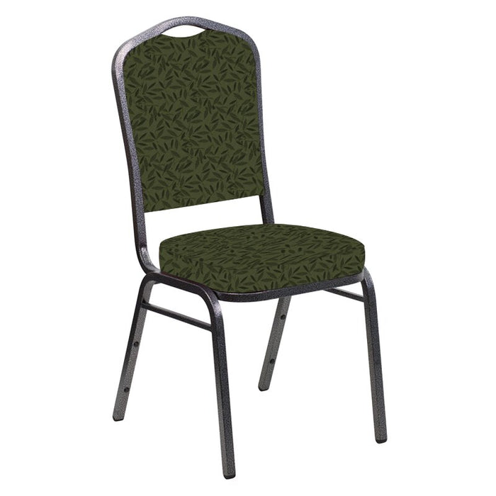 Flash Furniture Crown Back Banquet Chair in Jasmine Fern Fabric - Silver Vein Frame
