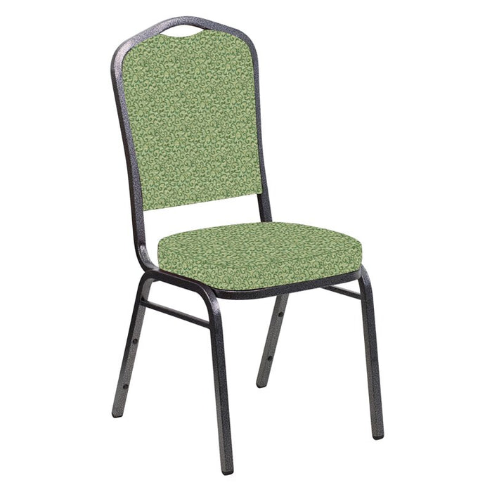Flash Furniture Crown Back Banquet Chair in Lancaster Sage Fabric - Silver Vein Frame