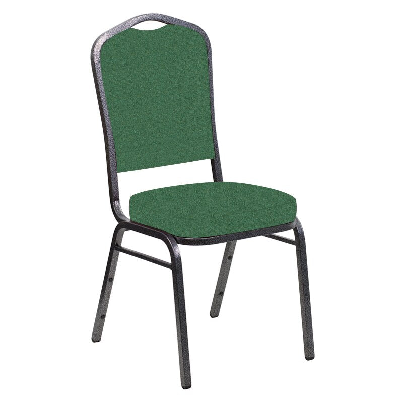 Flash Furniture Crown Back Banquet Chair in Phoenix Loden Fabric - Silver Vein Frame