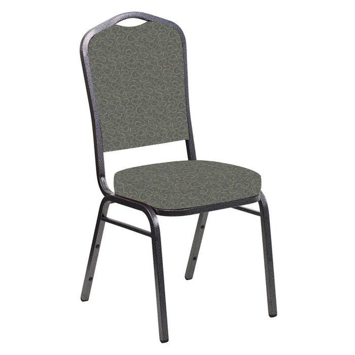 Flash Furniture Crown Back Banquet Chair in Ribbons Heather Fabric - Silver Vein Frame