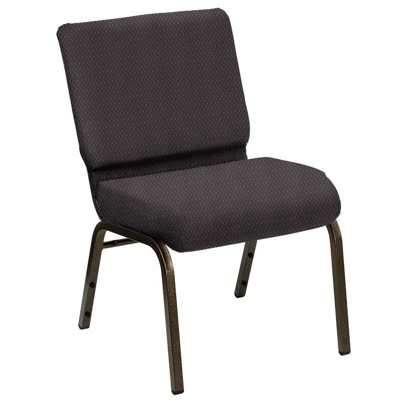 Flash Furniture HERCULES Series 21''W Church Chair in Biltmore Ironside Fabric - Gold Vein Frame