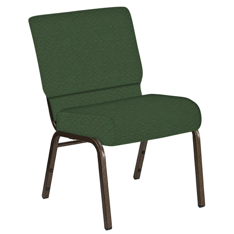 Flash Furniture 21''W Church Chair in Fiji Aloe Fabric - Gold Vein Frame